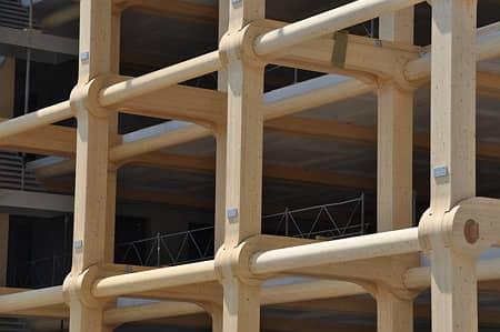 Drevena konstrukcia Tamedia office building, Zurich, Shigeru Ban