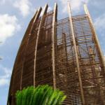 Drevená konštrukcia Jean-Marie Tjibaou Cultural Center, Nová Kaledónia, Renzo Piano