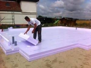 základy na tvrdenom polystyrene