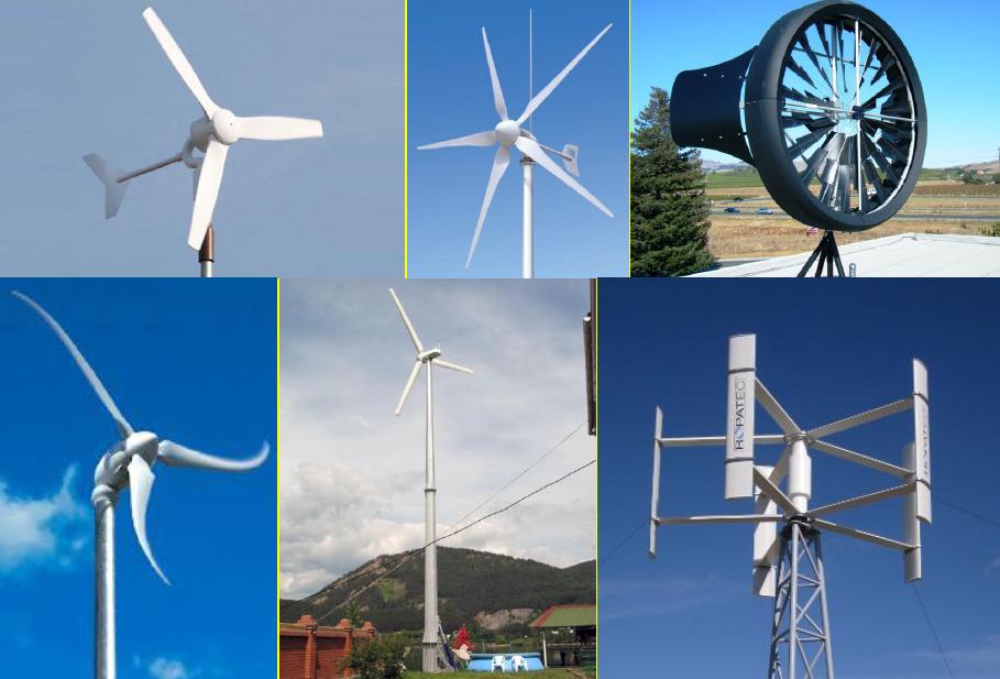 zariadenia, pre ktoré je veterná energia zdrojom
