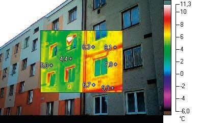 Termovízne snímky dokumentujú rozdiel, ktorý znamená zateplenie domu pri znižovaní tepelných únikov. Zdroj: Isover