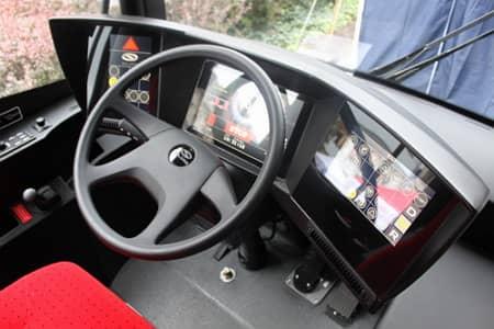 Interiér elektrobusu Škoda Perun