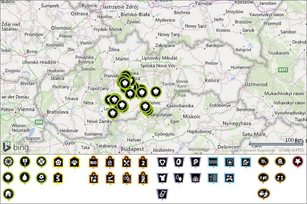 Eko-mapa obsahuje miesta a služby, ktoré pomáhajú žiť zdravšie a s ohľadom na životné prostredie. Interaktívna databáza prírodných zaujímavostí, ekologických objektov z oblasti kultúry, športu, ekologickej energetiky a podnikania, zberu a likvidácie odpadov ponúka aktuálne viac ako 2 360 registrovaných miest po celom Slovensku.
