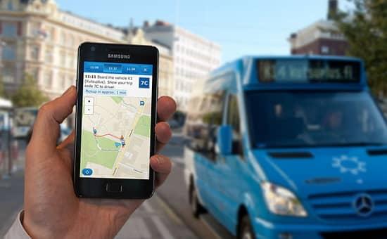 """Helsinki majú vlastný systém """"zdieľanej"""" dopravy, Kutsuplus s mobilnou aplikáciou."""