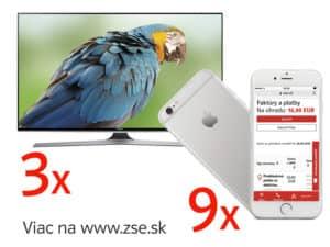 "Súťaž o 9x Apple iPhone 6S a 3x Smart TV Samsung 48"""