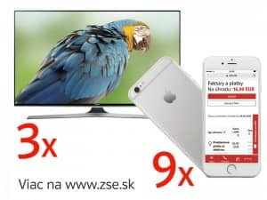Súťaž o 9x Apple iPhone 6S a 3x Smart TV Samsung 48""